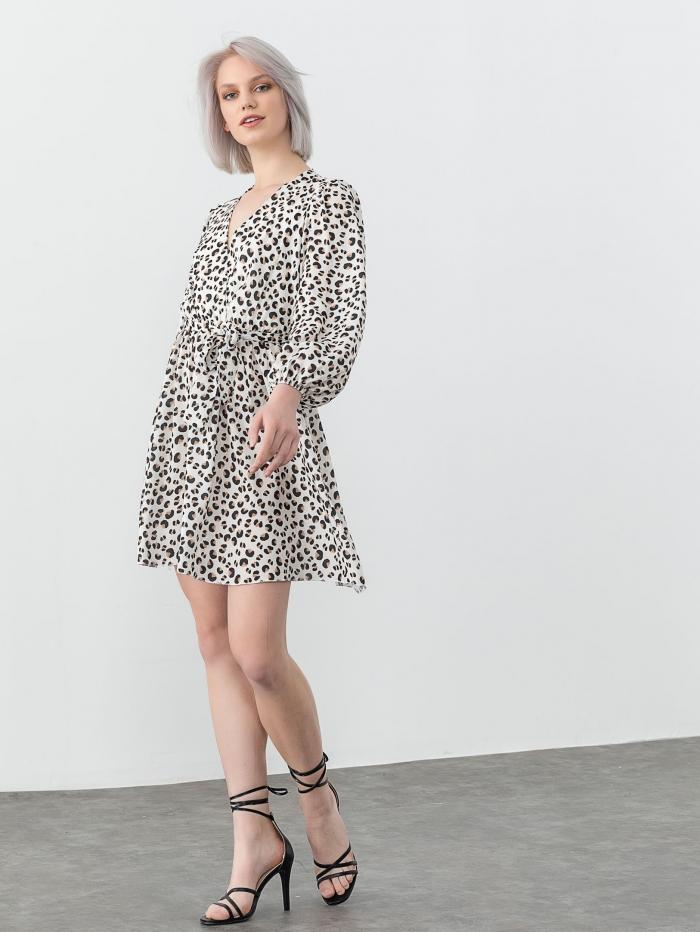 Κρουαζέ εμπριμέ φόρεμα