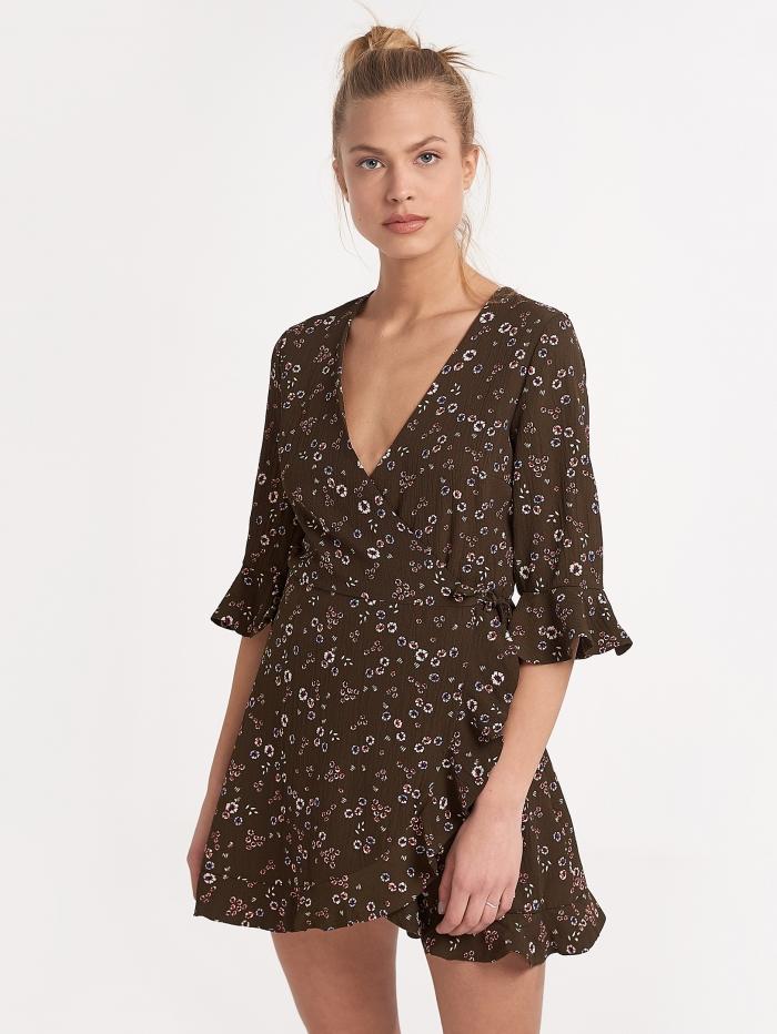 Κρουεζέ φόρεμα με εσωτερικό σορτσάκι