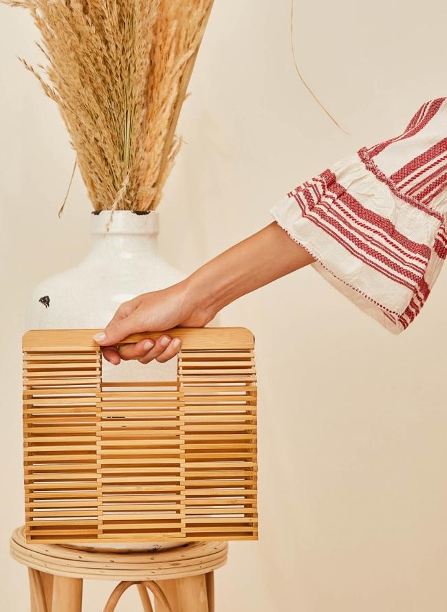 Ξύλινο τσαντάκι bamboo