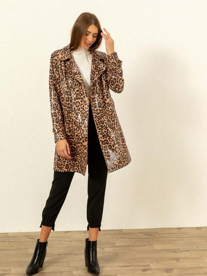 Leopard καπαρντίνα