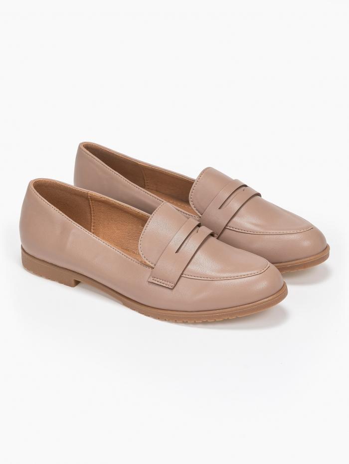 Basic loafers με κρεπ
