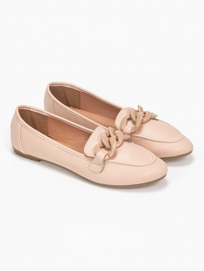 Loafers με κοκάλινη αλυσίδα