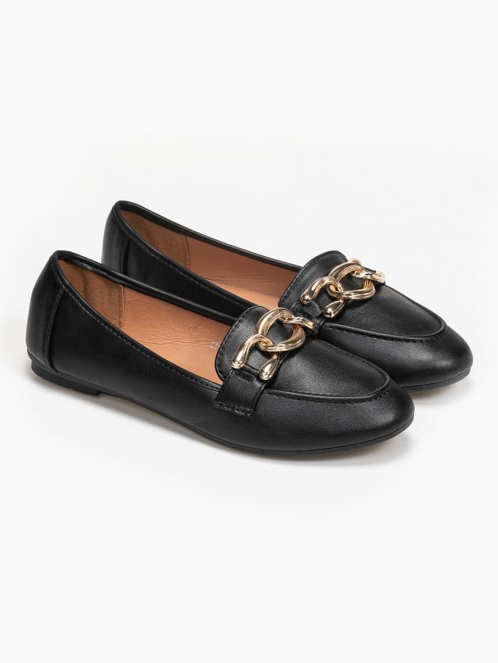 Loafers με αλυσίδα και εύκαμπτη σόλα