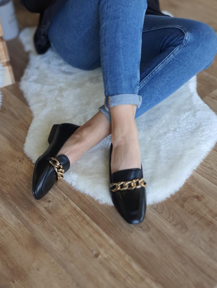 Μοκασίνια - loafers με αλυσίδα