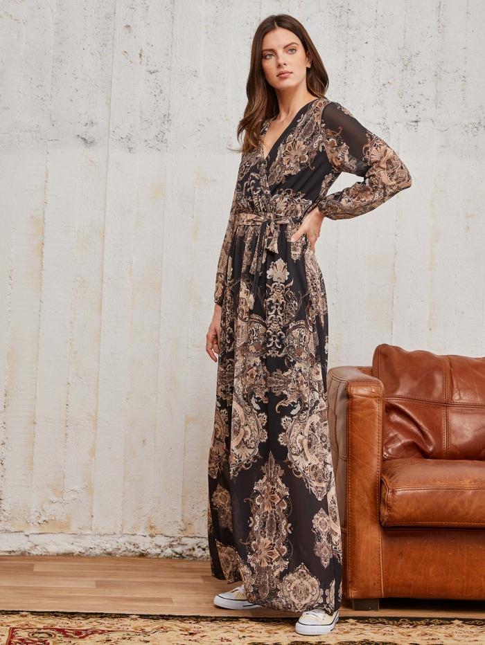 Μακρύ κρουαζέ φόρεμα