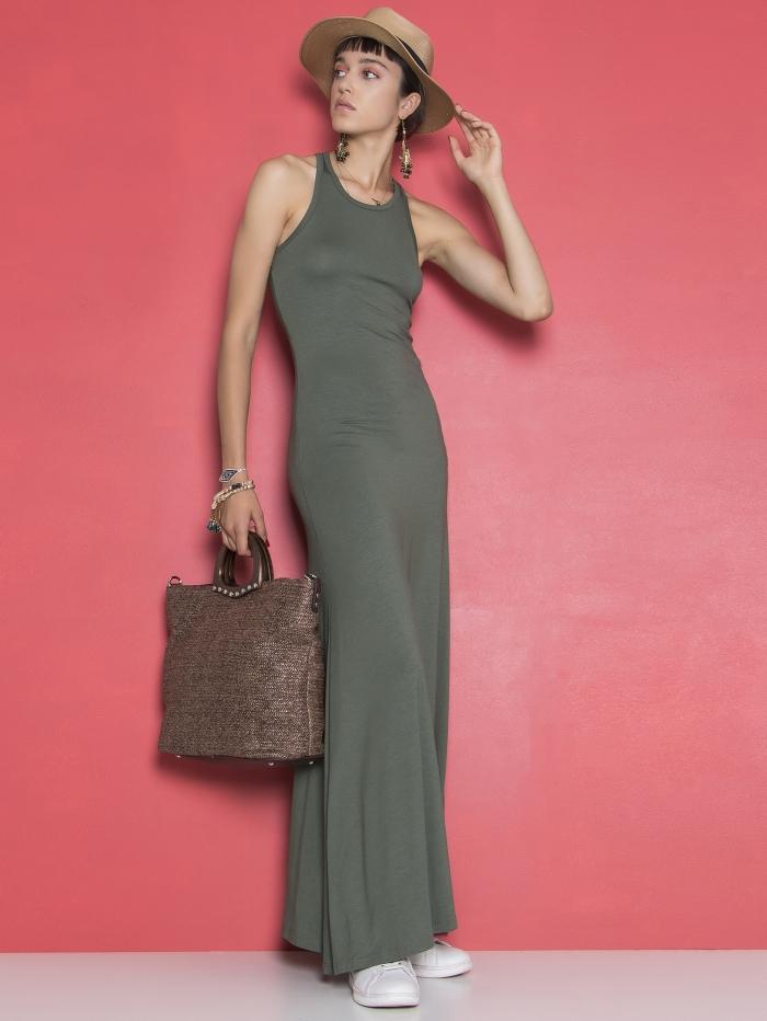 Μάξι φόρεμα με σκίσιμο στο πλάι