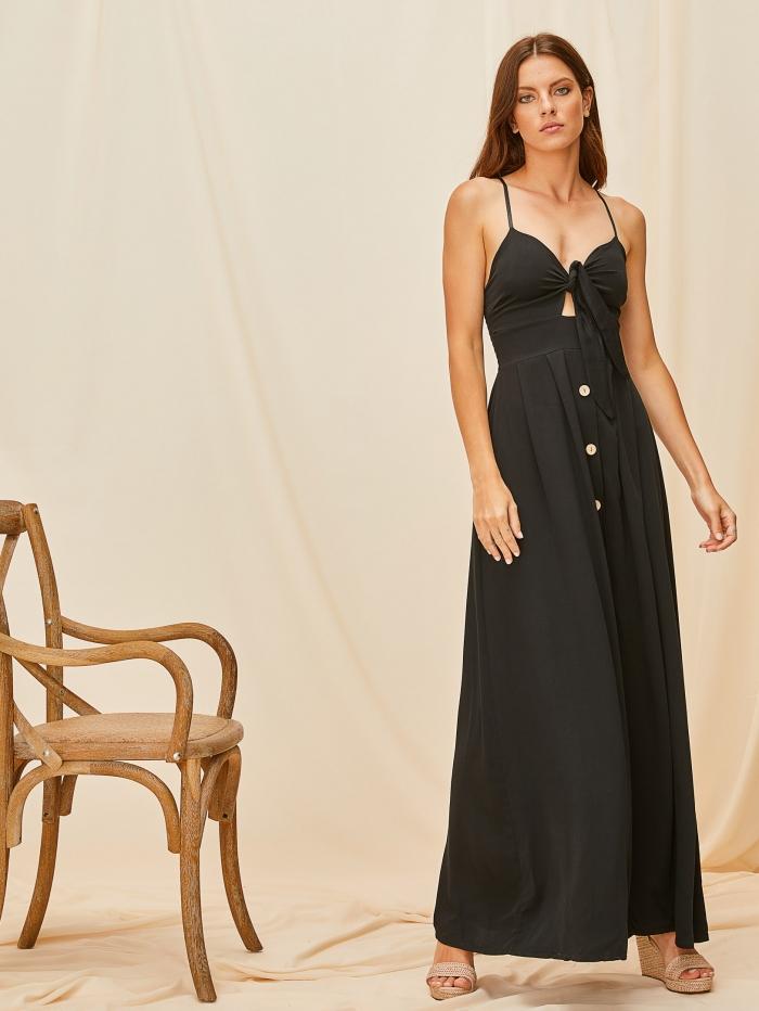 Maxi φόρεμα με δέσιμο στο μπούστο