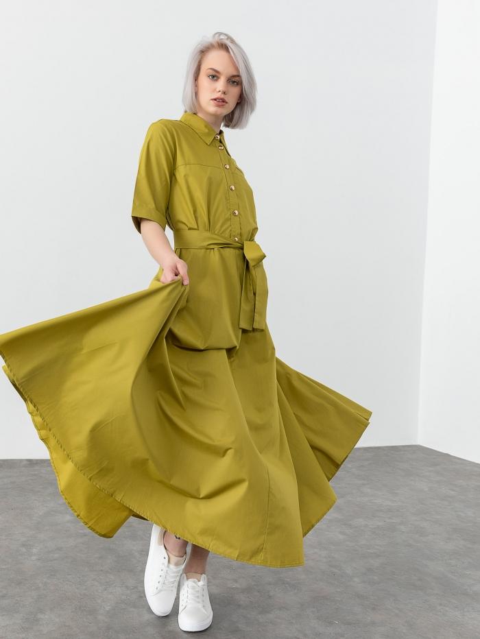 Maxi φόρεμα με γιακά