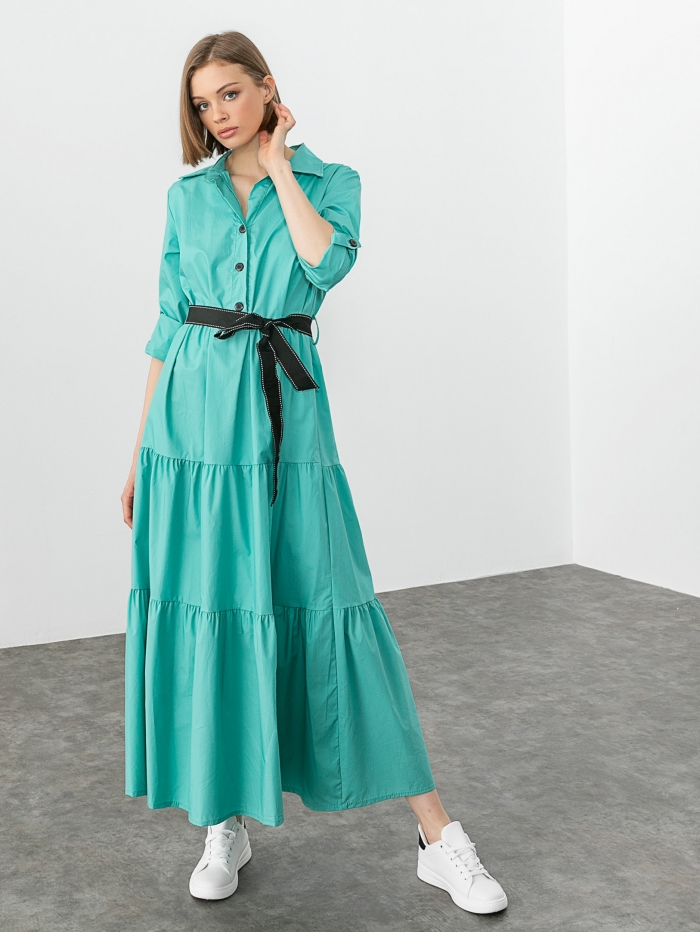Maxi φόρεμα με κουμπιά
