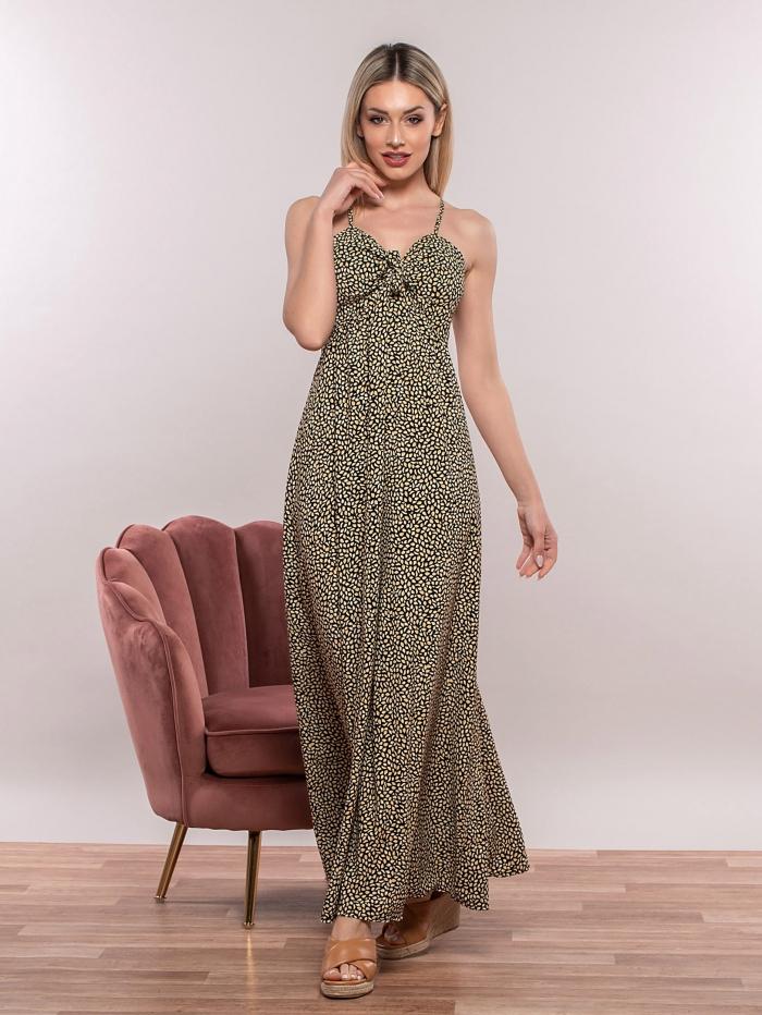 Maxi φόρεμα με χιαστί τιράντες