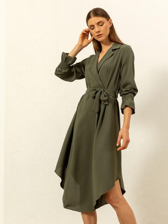 Midi φόρεμα με γιακά