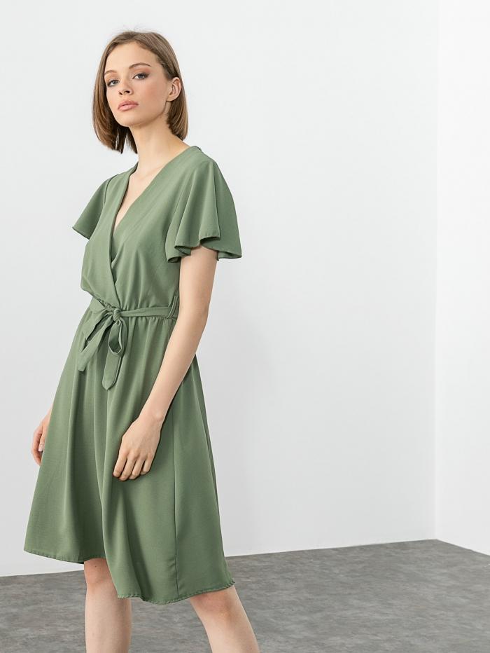 Midi κρουαζέ φόρεμα