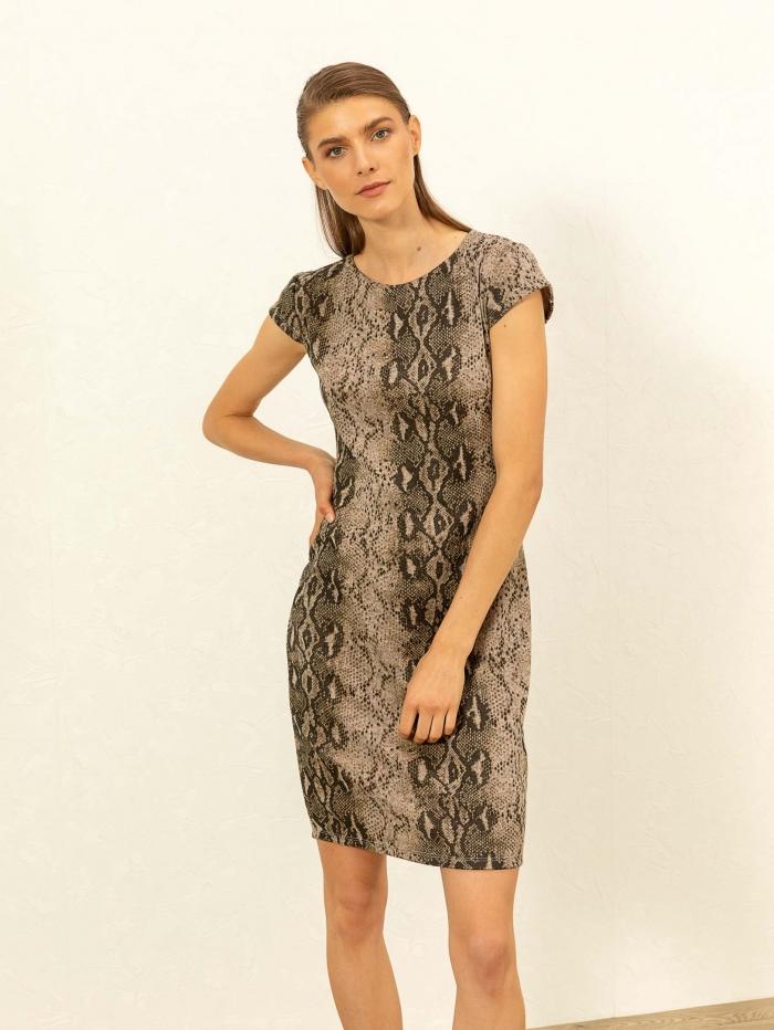 Midi snake skin φόρεμα