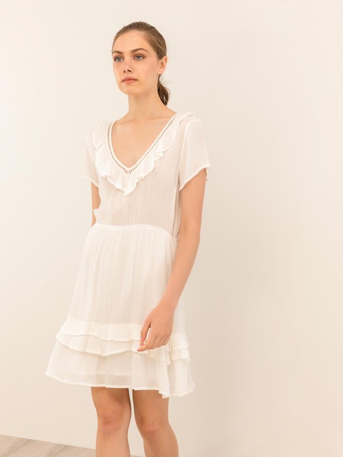 Μίνι φόρεμα με ασύμμετρο τελείωμα