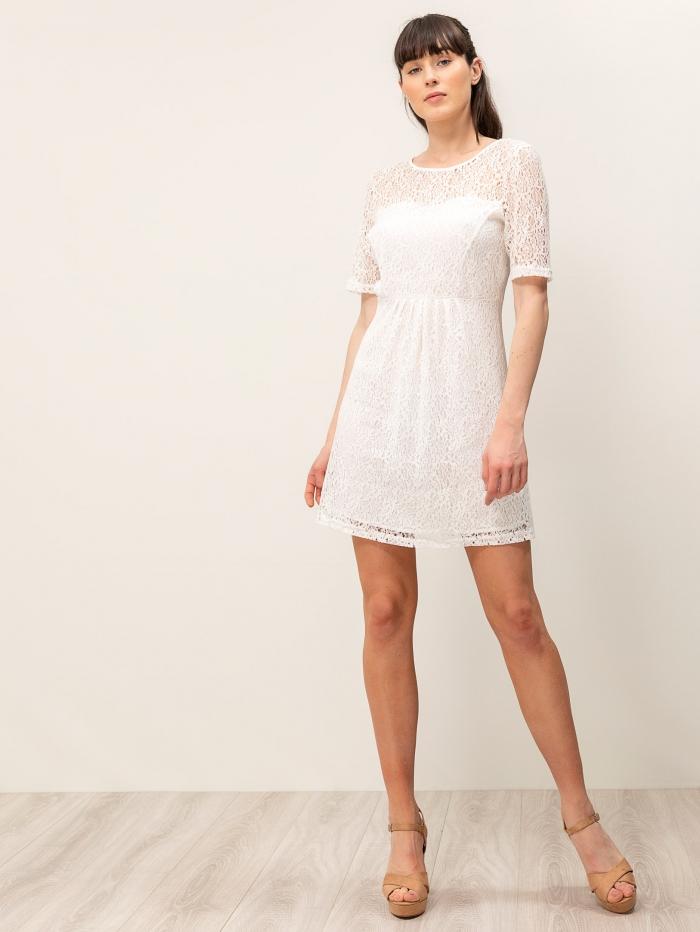 Mini φόρεμα με διάτρητο σχέδιο