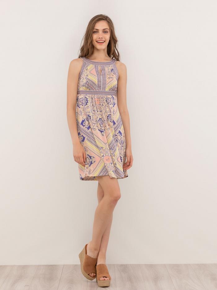 Μίνι φόρεμα με pattern