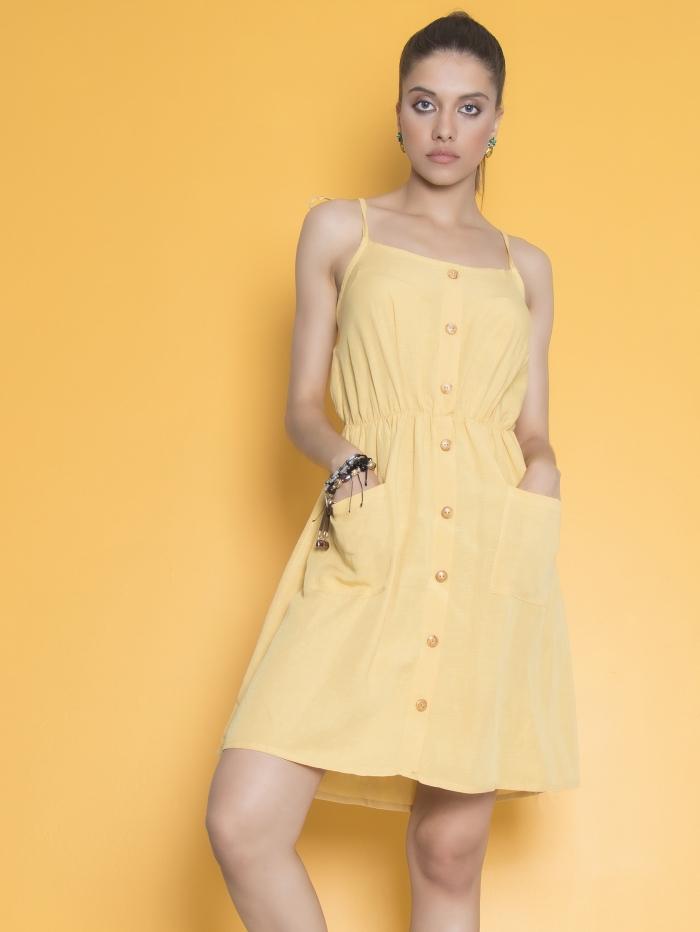 Μίνι φόρεμα με τιράντες