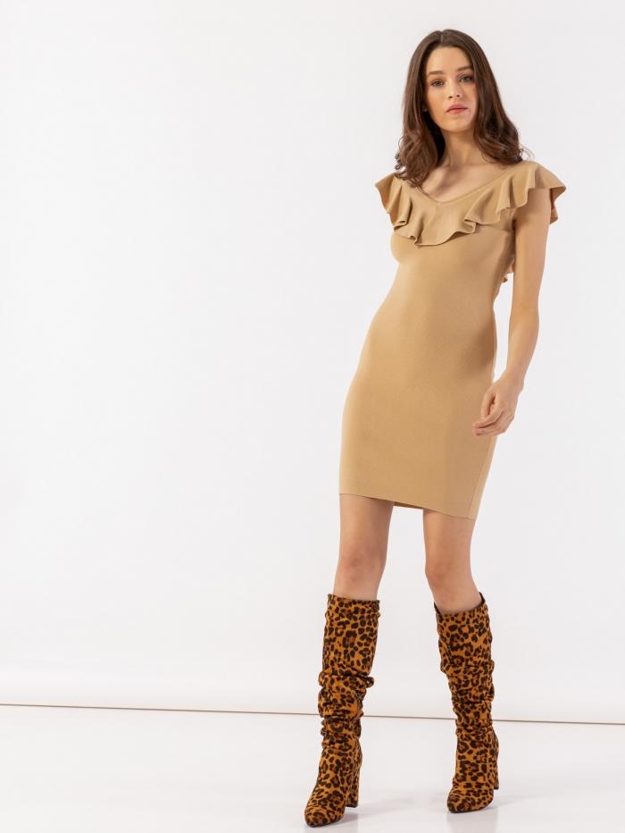 Mini φόρεμα με βολάν