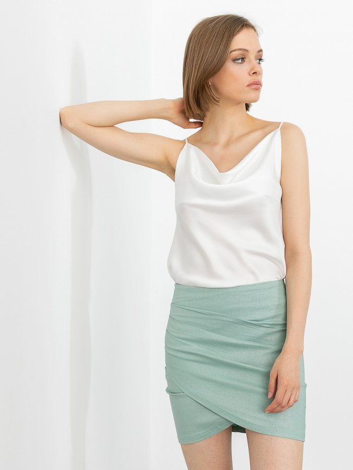 Mini φούστα ντραπέ