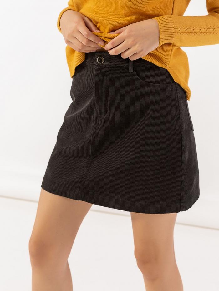 Mini κοτλέ φούστα σε Α γραμμή