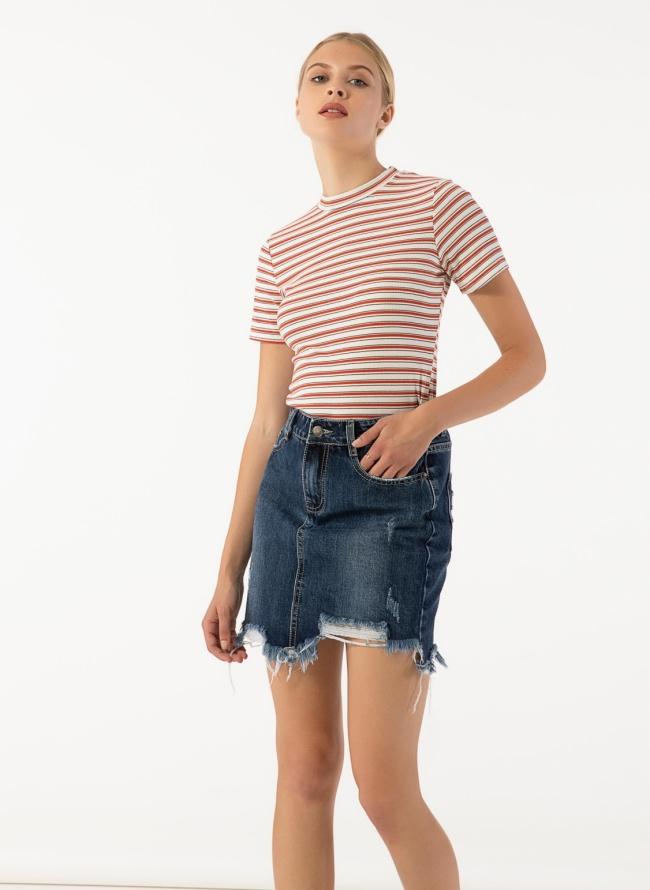 Mini τζιν φούστα