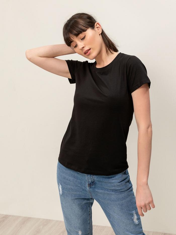 Μονόχρωμο basic t-shirt