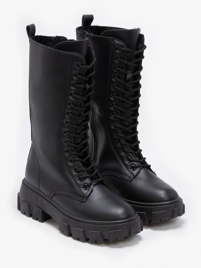 Mind calf chunky boots