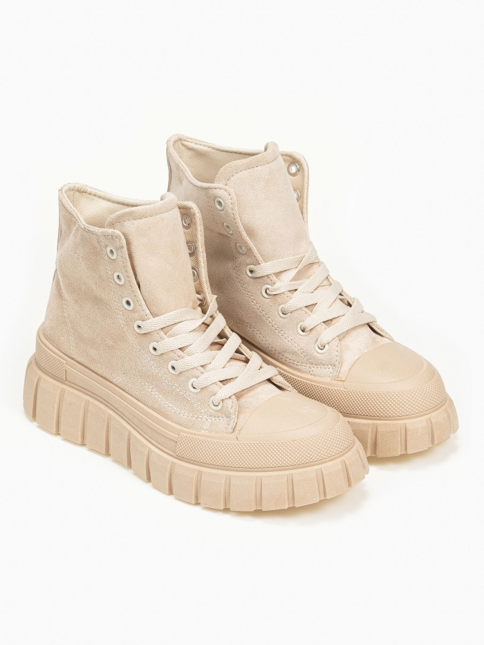 Sneakers μποτάκια με suede υφή