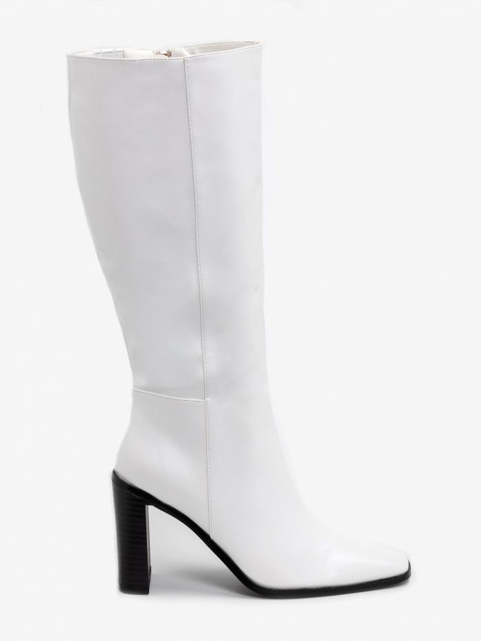 Μπότες με λεπτό wide τακούνι