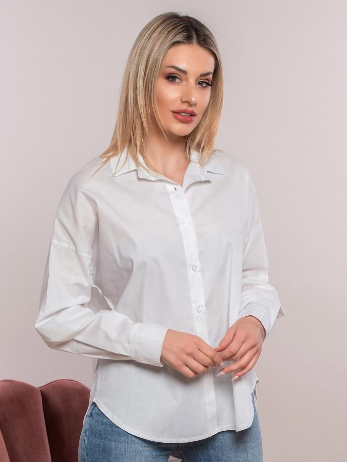 Basic βαμβακερό πουκάμισο