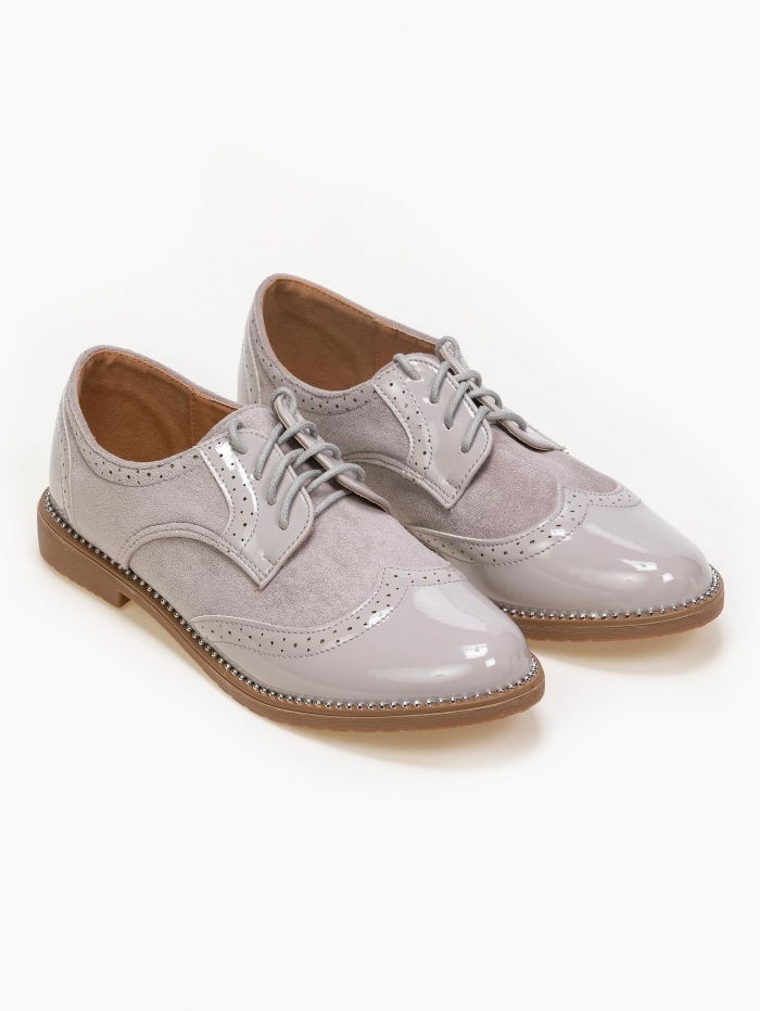 Oxfords σε συνδυασμό υλικών