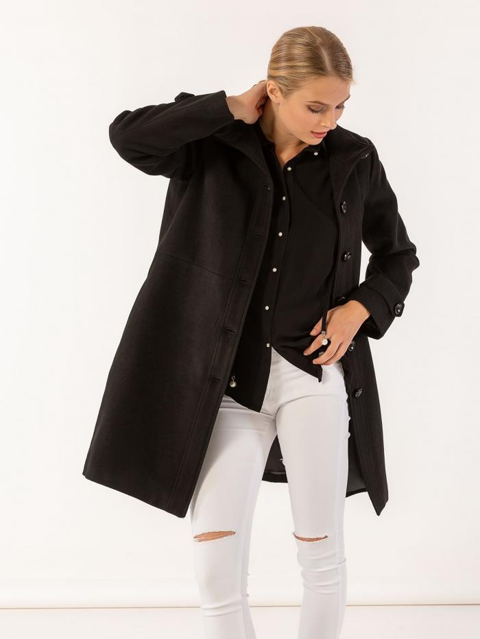 Παλτό σε ίσια γραμμή με πλαϊνές τσέπες