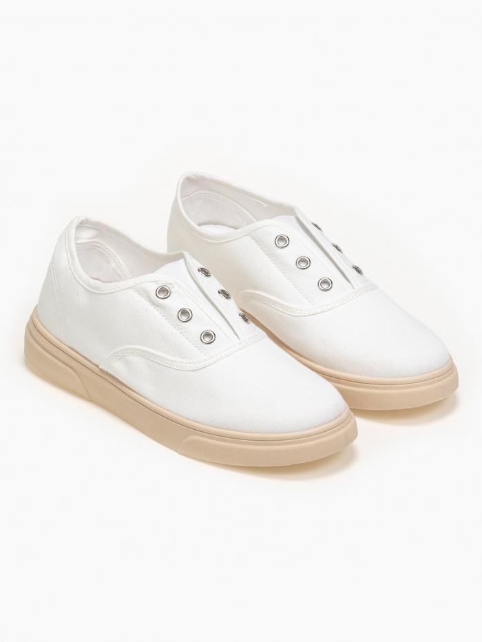 Πάνινα sneakers χωρίς κορδόνια