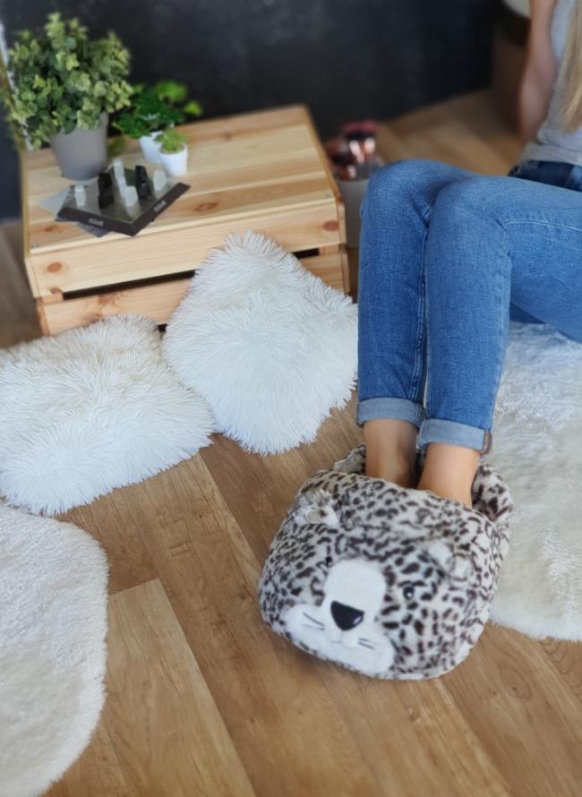 Oversized cozy παντόφλ τιγράκι