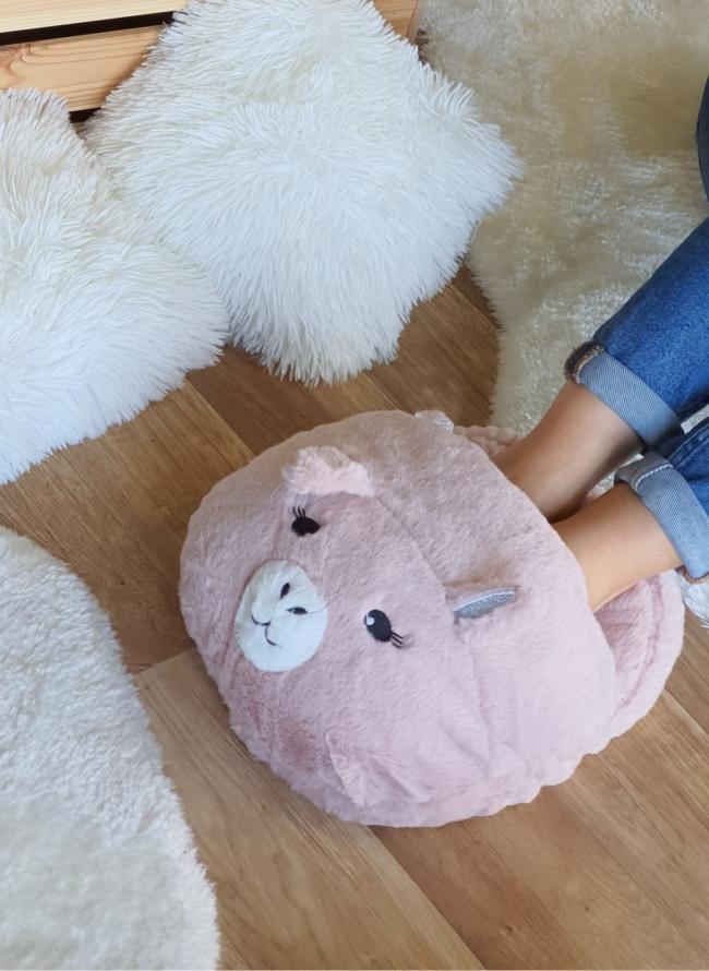 Oversized cozy παντόφλα γουρουνάκι