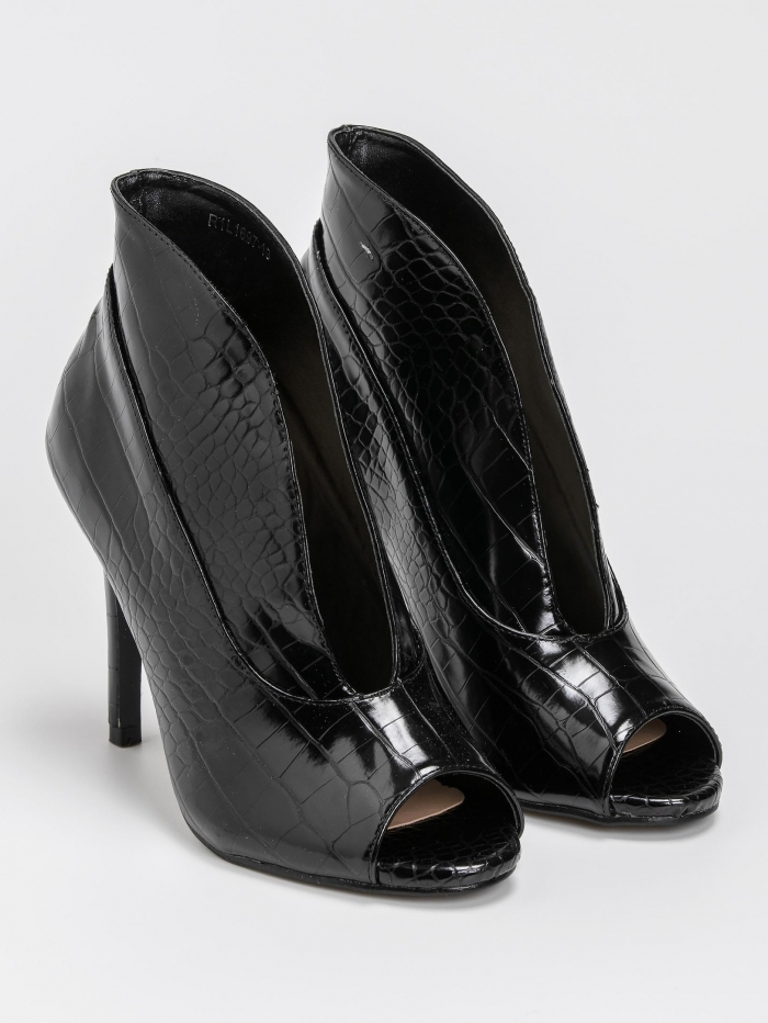 Peep toe μποτάκια αστραγάλου