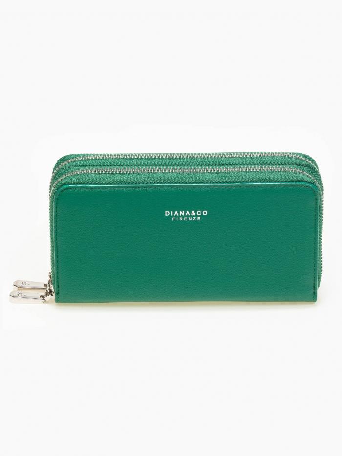 Πορτοφόλι με διπλό φερμουάρ