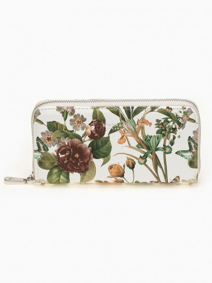 Φλοράλ πορτοφόλι με φερμουάρ