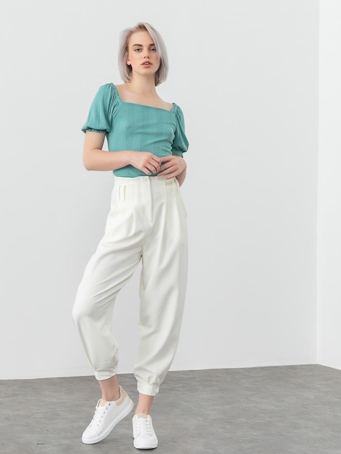 Ψηλόμεσο baggy παντελόνι