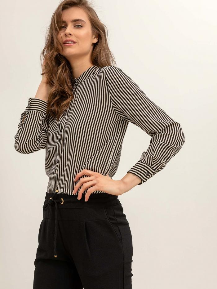 d37686fdf31 Ριγέ πουκάμισο χωρίς γιακά
