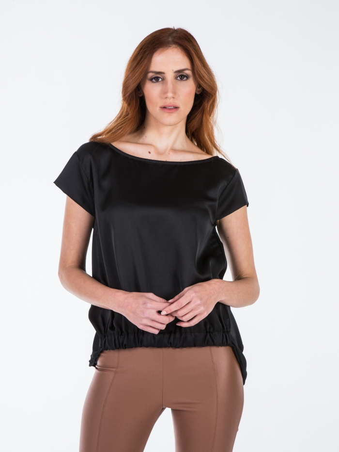 Σατέν μπλούζα με λάστιχο
