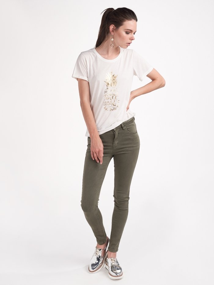 Skinny ψηλόμεσο παντελόνι