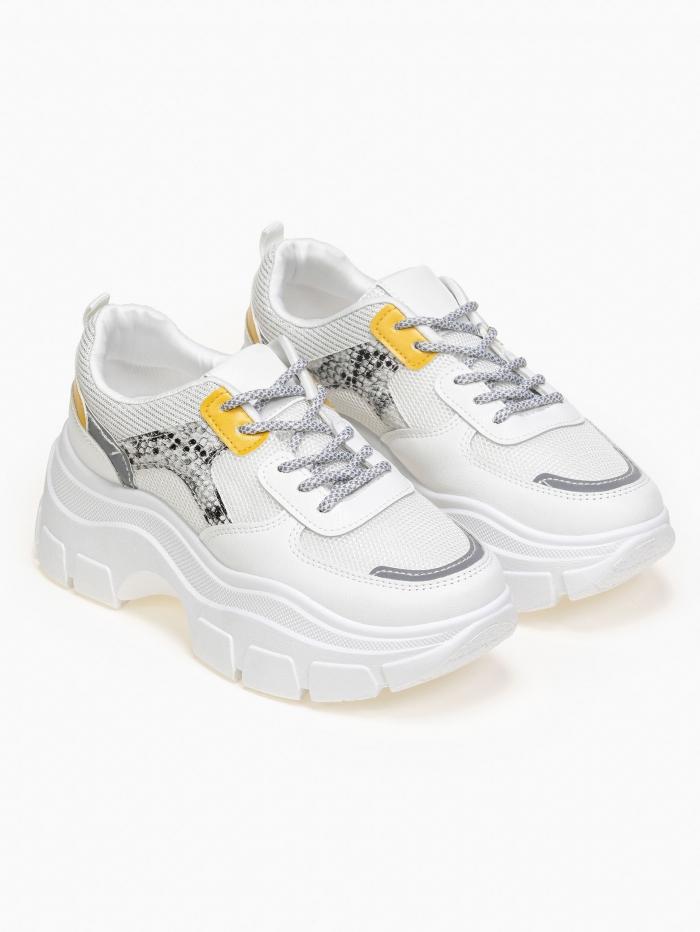 Sneakers με animal print και ιριδίζουσες λεπτομέρειες