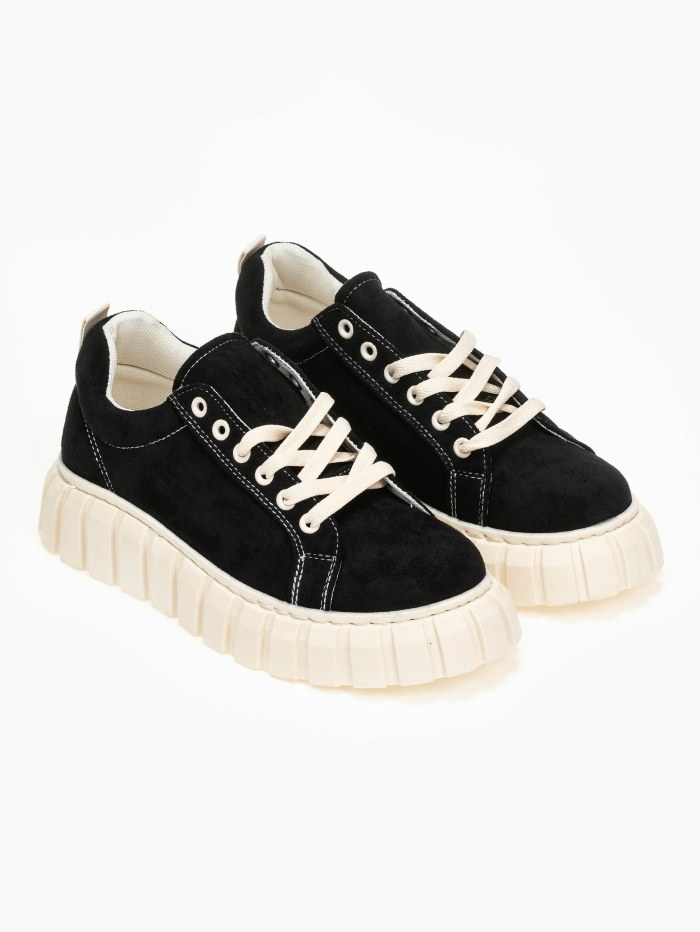 Suede sneakers μεψηλή σόλα