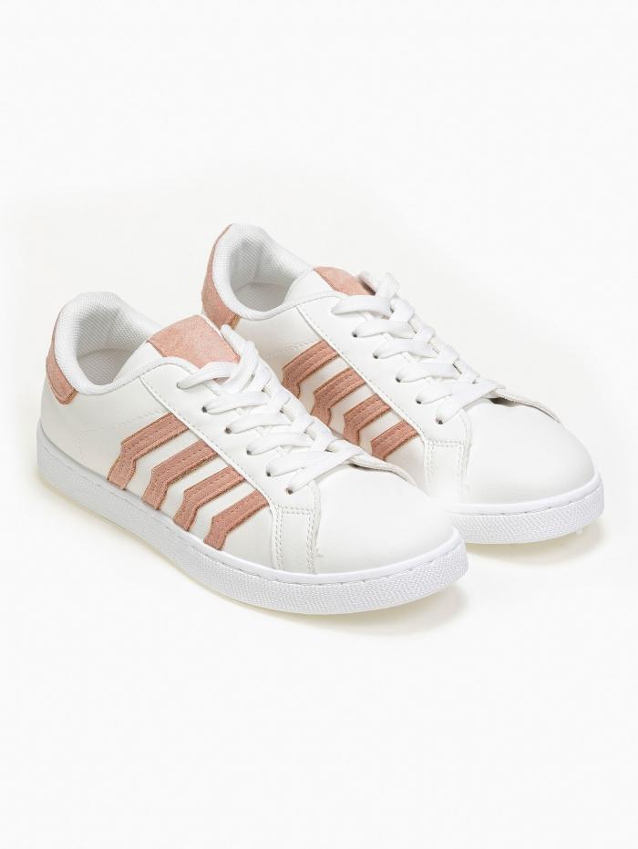 Sneakers με διχρωμία και glitter