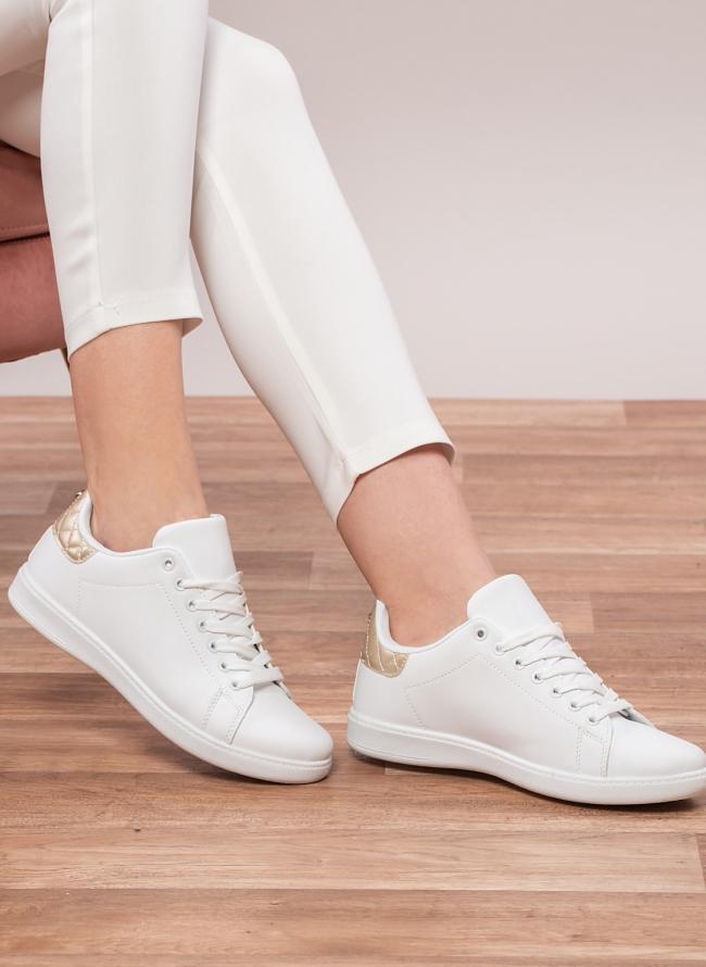 Sneakers με χρωματική καπιτονέ λεπτομέρειεα