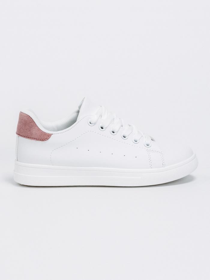 Sneakers με χρωματική λεπτομέρεια