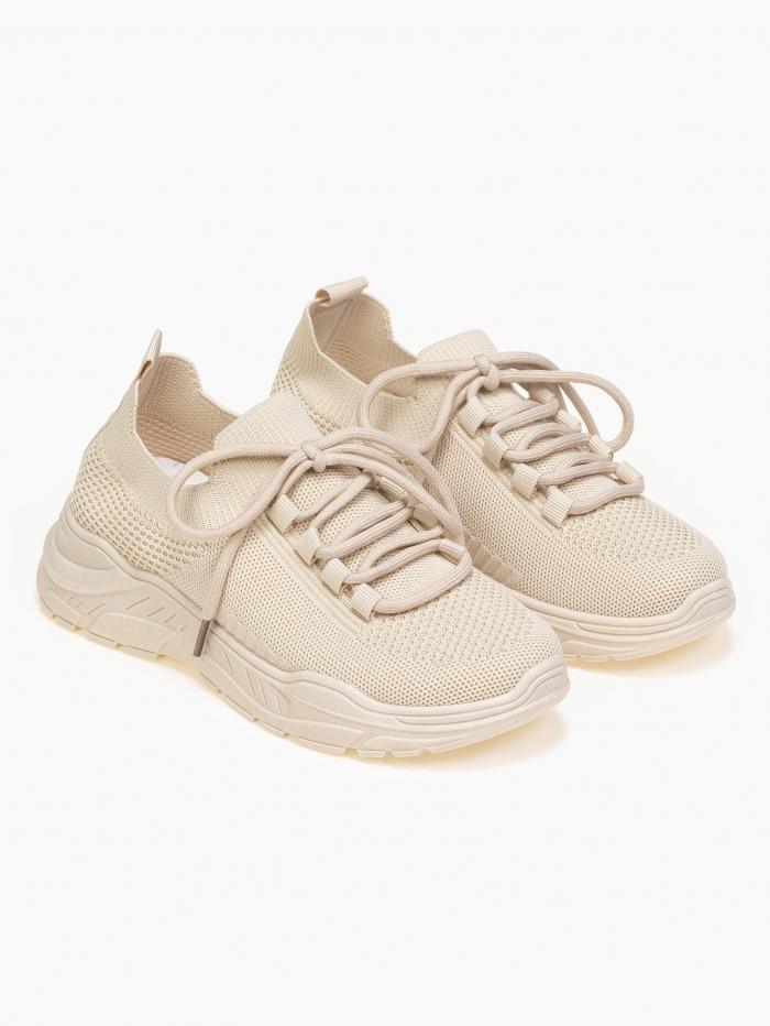 Sneakers τύπου κάλτσα με κορδόνια