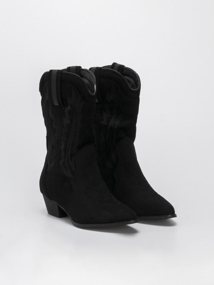 Suede cowboy μπότες