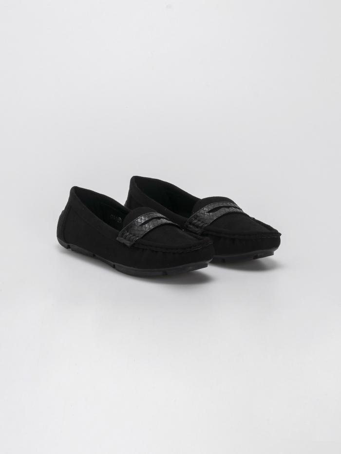 Suede loafers με croco λεπτομέρειες